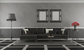 Black and white classic living room - PhotoDune Item for Sale