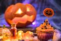 Halloween cupcake and pumpkin latern - PhotoDune Item for Sale