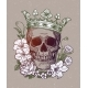 Romantic Skull with Crown - GraphicRiver Item for Sale