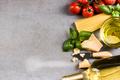 Spaghetti pasta ingredients, border background - PhotoDune Item for Sale