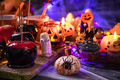 Sweet treats at Halloween table, party food - PhotoDune Item for Sale
