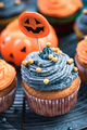 Homemade cupcakes for Halloween children party - PhotoDune Item for Sale