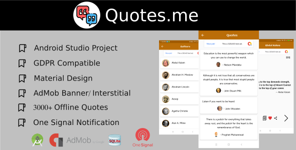 Quotes.me Offline Quotes app with GDPR            Nulled