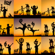 Collage of happy family playing outdoors - PhotoDune Item for Sale