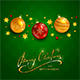 Text Merry Christmas on Green Background - GraphicRiver Item for Sale