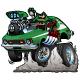 Seventies Green Hot Rod Cartoon Vector Illustration - GraphicRiver Item for Sale