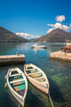 Two small fishing boats in Kotor Bay - PhotoDune Item for Sale