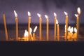 Row of burning memorial candles - PhotoDune Item for Sale