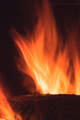 Log on fire in a home fireplace - PhotoDune Item for Sale