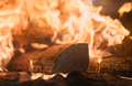 Logs on fire in a home fireplace - PhotoDune Item for Sale