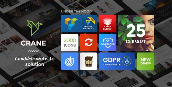 Crane - Highly Customizable Multipurpose WordPress Theme