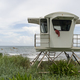White Life Guard Station On the Shore Palm Beach - PhotoDune Item for Sale