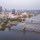 Aerial View over the Arkansas River and Downtown Little the state capitol - PhotoDune Item for Sale