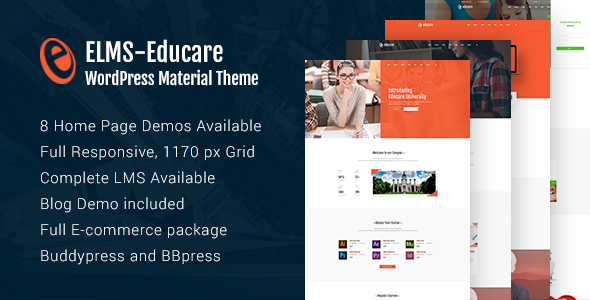 Elms - Educational Material WordPress Theme - Education WordPress