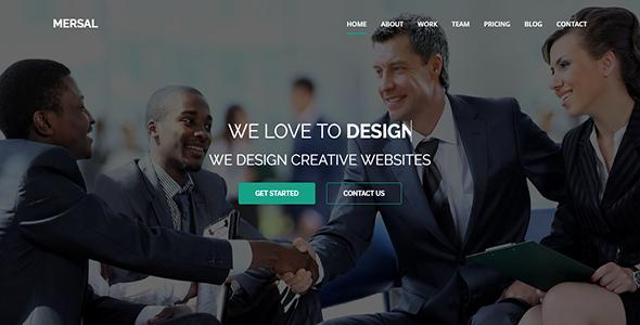 Mersal - One Page MultiPurpose WordPress Theme - Business Corporate