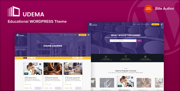 UDEMA - Modern Educational WordPress Theme