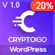 Cryptoigo - Cryptocurrency WordPress Theme With Elementor Page Builder - ThemeForest Item for Sale