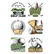 Golf Game and Sport Club Icons - GraphicRiver Item for Sale