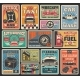 Car Service and Auto Repair Garage Retro Cards - GraphicRiver Item for Sale