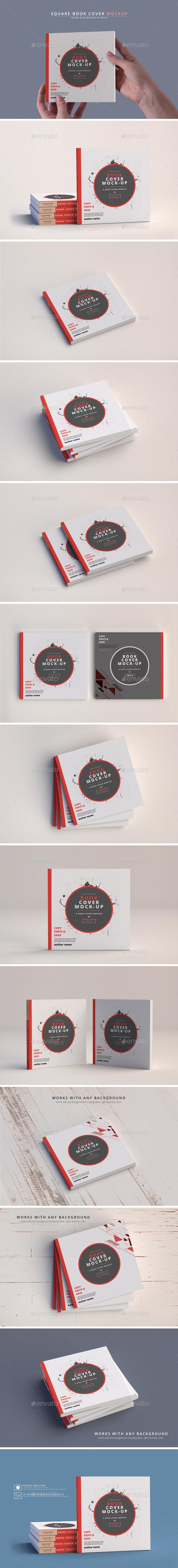 Softcover Book Mockups - Square - Books Print