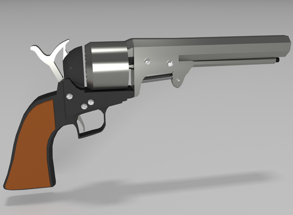 old revolver gun - 3DOcean Item for Sale