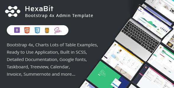 HexaBit - Responsive Bootstrap Admin Template & UI KIT
