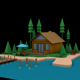 Low Poly Hotel Resort - 3DOcean Item for Sale