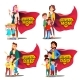 Super Dad and Super Mom Vector - GraphicRiver Item for Sale