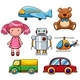 Different Types of Toys - GraphicRiver Item for Sale