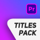 Triangle Titles Pack - VideoHive Item for Sale