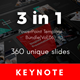 3 in 1 Multipurpose Keynote Template Bundle (Vol.06) - GraphicRiver Item for Sale