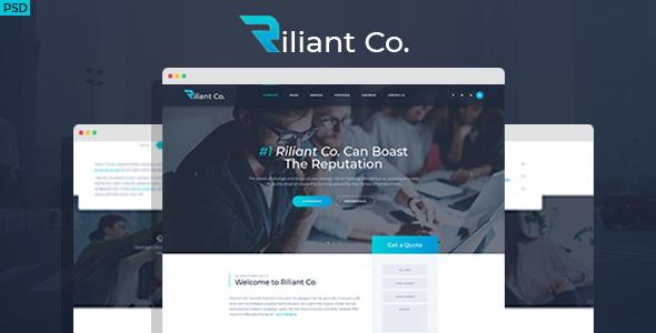 Riliant - Corporate agency PSD Template - Corporate PSD Templates