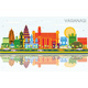 Varanasi India City Skyline with Color Buildings - GraphicRiver Item for Sale
