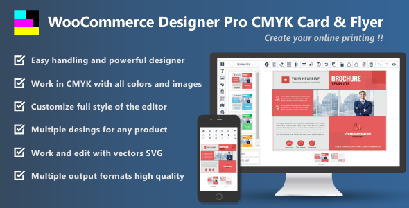WooCommerce Designer Pro CMYK Card & Flyer - CodeCanyon Item for Sale