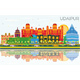 Udaipur India City Skyline with Color Buildings - GraphicRiver Item for Sale