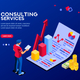 Consult Infographic Isometric Vector - GraphicRiver Item for Sale
