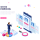 Hiring Concept Isometric Vector - GraphicRiver Item for Sale