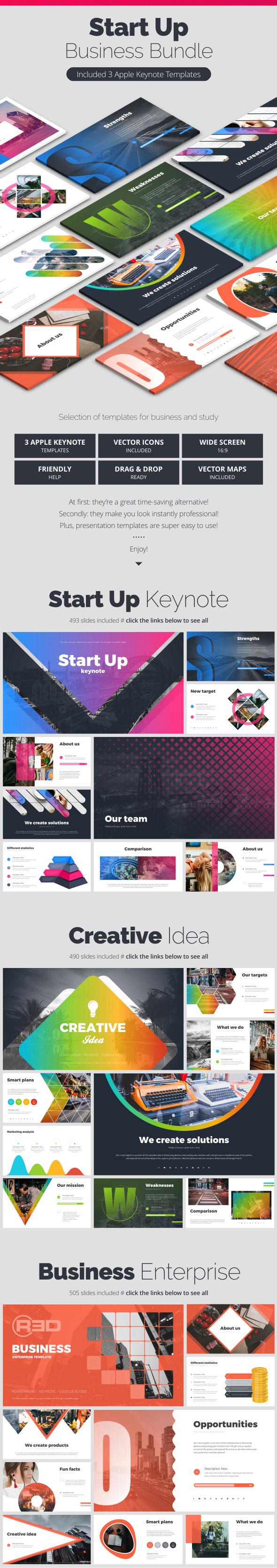 StartUp Bundle - Business Keynote Templates
