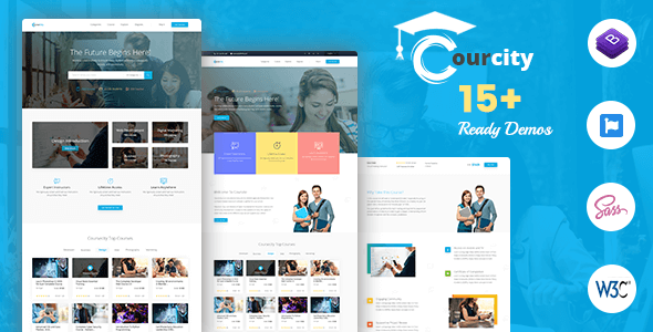 Courcity - Online Course HTML Template For Education - Miscellaneous Site Templates
