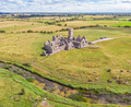 An Aerial View of Ross Errilly Friary in Ireland - PhotoDune Item for Sale