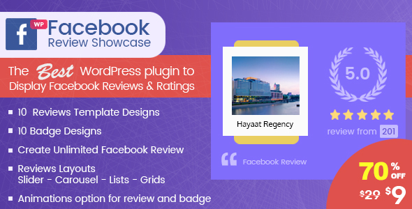 WP Facebook Review Showcase - FB Page Review Plugin for WordPress            Nulled