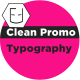 Clean Promo Typography - VideoHive Item for Sale