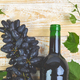 Red wine concept with bottle, glass and grapes - PhotoDune Item for Sale