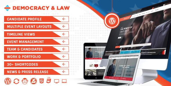 Democracy Political - Lawyer WordPress Theme - Political Nonprofit
