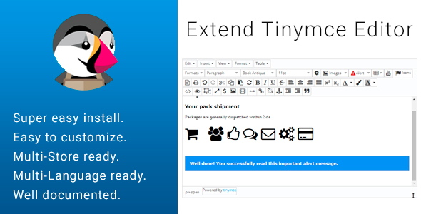 Extend Tinymce Form Text Editor            Nulled