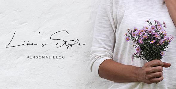 Lika's Style - Personal Blog PSD Template - Creative PSD Templates