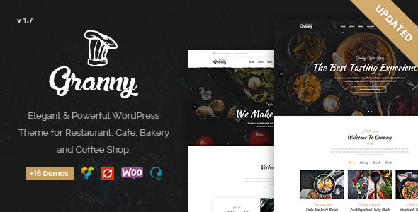 Restaurant Granny - Elegant Restaurant & Cafe WordPress Theme - Restaurants & Cafes Entertainment