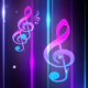 Music Notes Blue Background - VideoHive Item for Sale