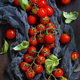 Cherry tomatoes and basil - PhotoDune Item for Sale