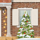 Entrance to the Brick House and a Christmas Tree - GraphicRiver Item for Sale